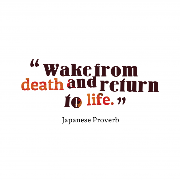 Japanese wisdom about situation.