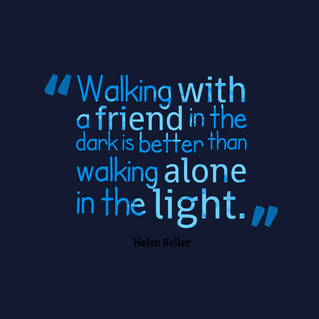 Helen Keller quote about alone.
