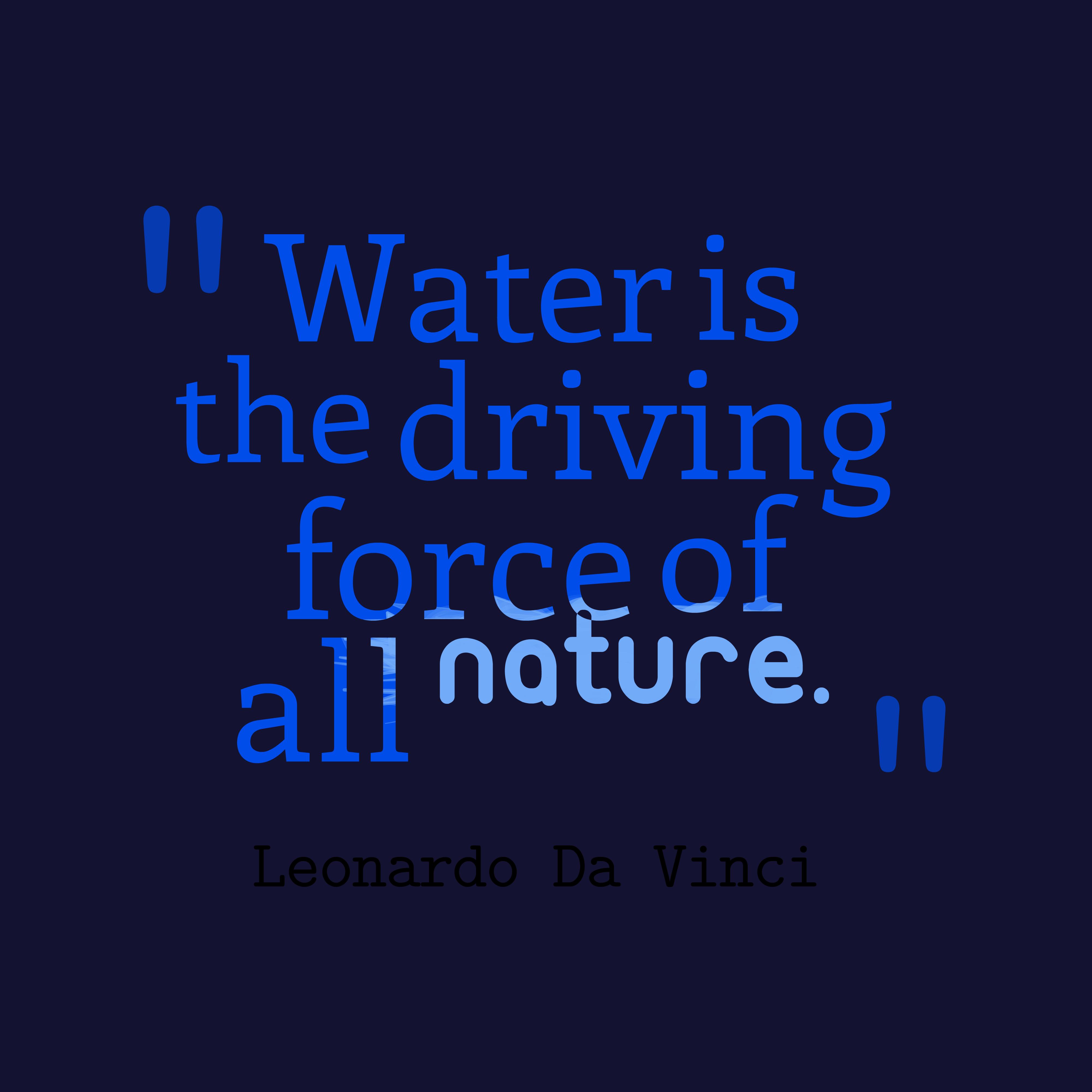 leonardo da vinci quote about nature