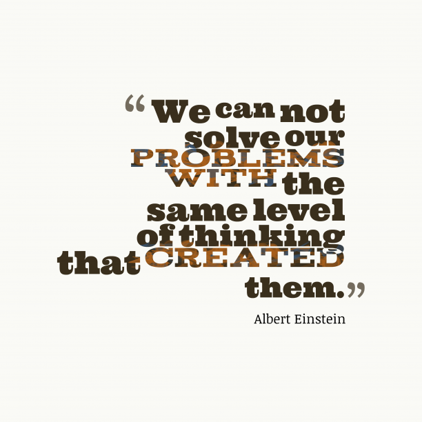 Albert Einstein quote about inovation.