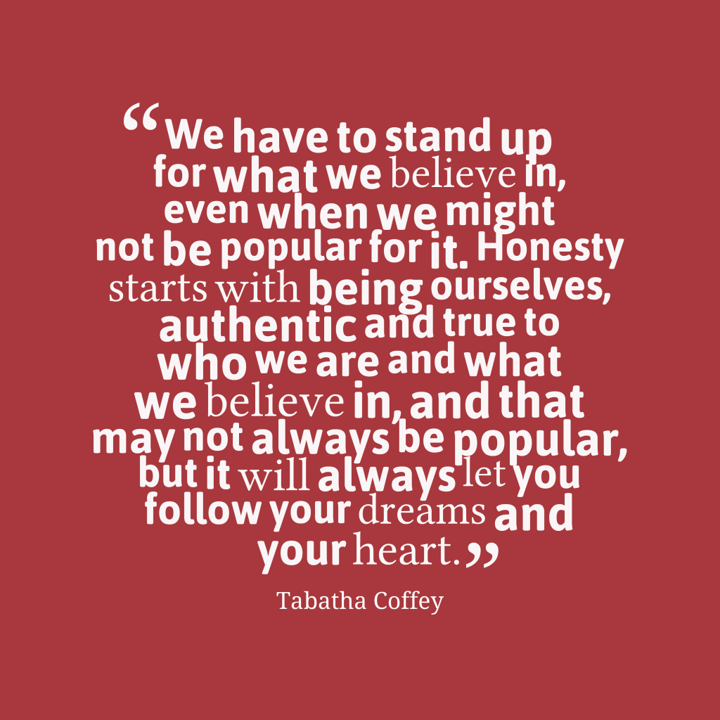 Tabatha Coffey quote about honesty.