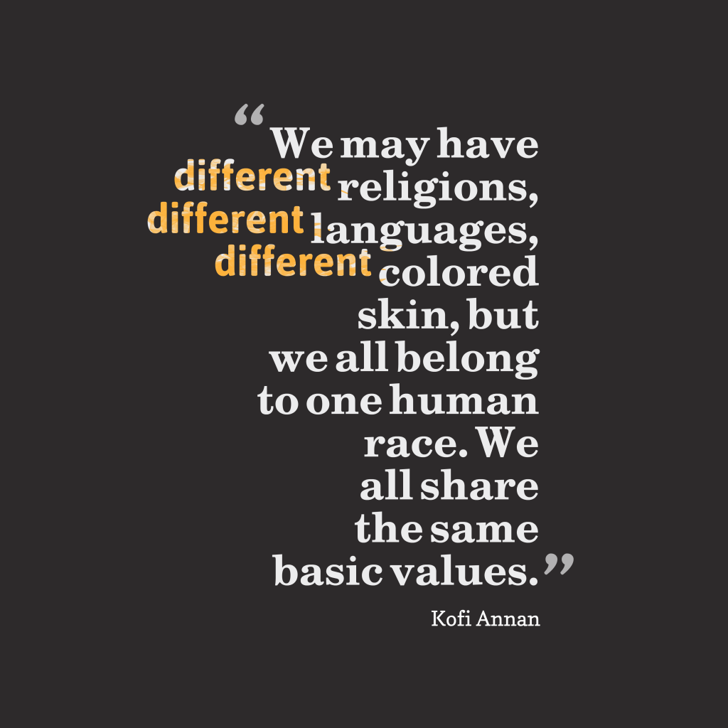Kofi Annan quote about equality.
