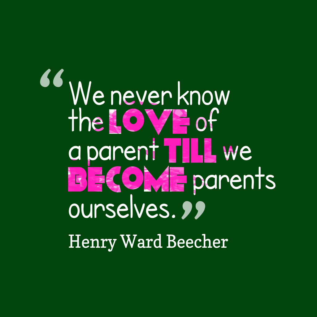 Henry Ward Beecher quote about parenting