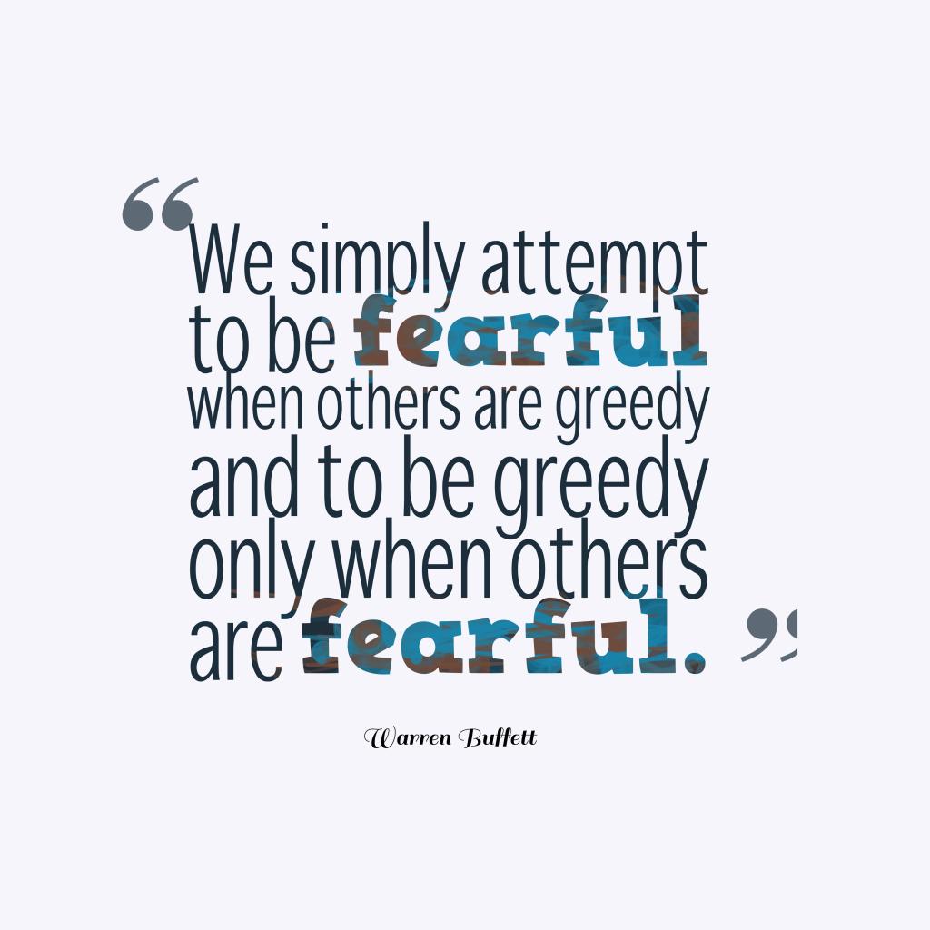 Warren Buffett quote about fear.