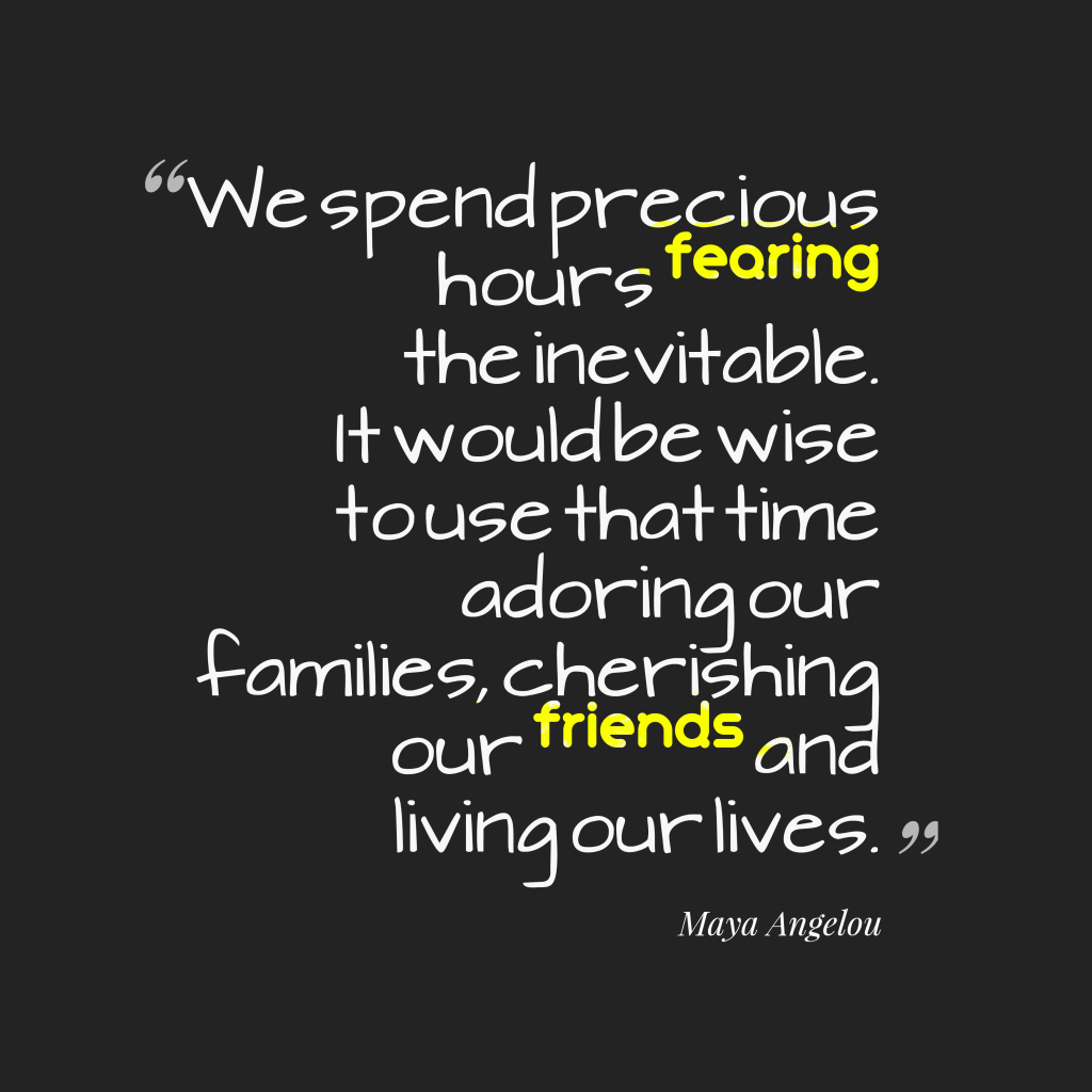 Maya Angelou quote about connecting.
