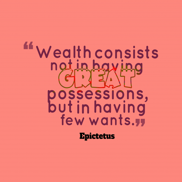 Epictetus quote about finance.