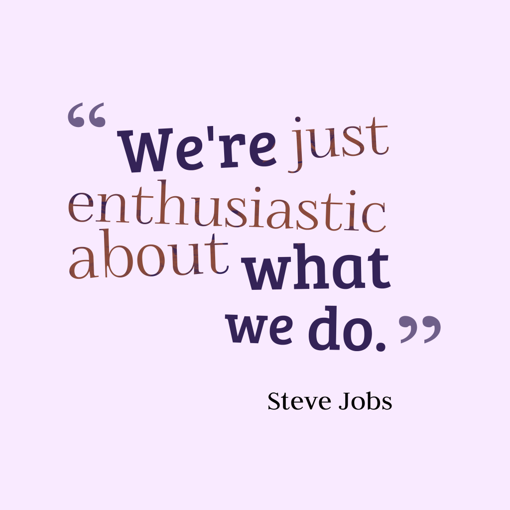 Steve Jobs quote about success.