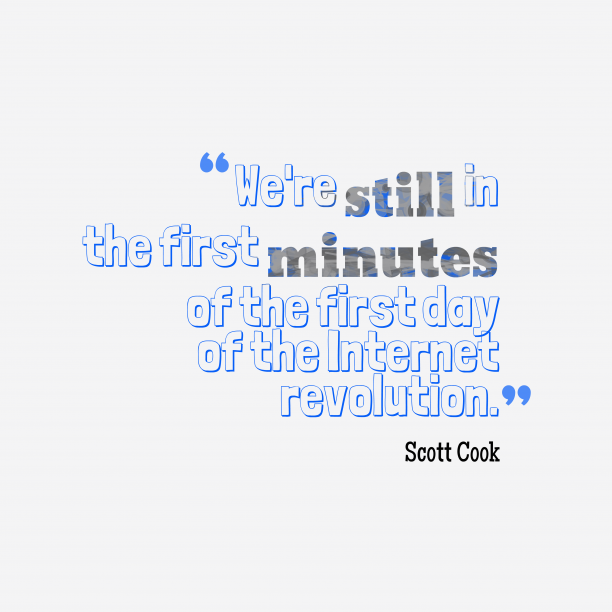 Scott Cook quote about technology.