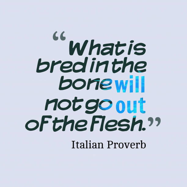 Italian proverb about change.