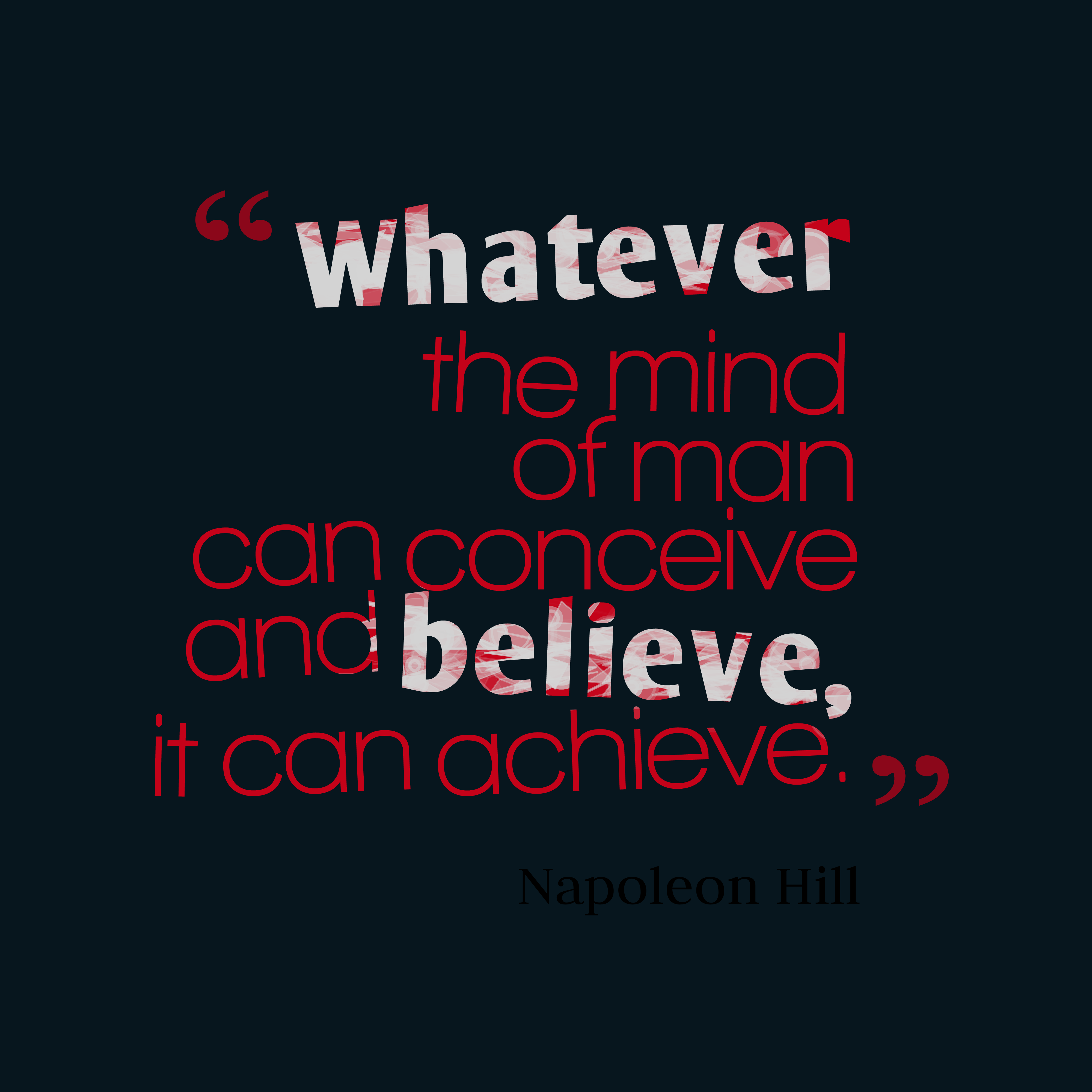 Napoleon Hill Quote About Mind