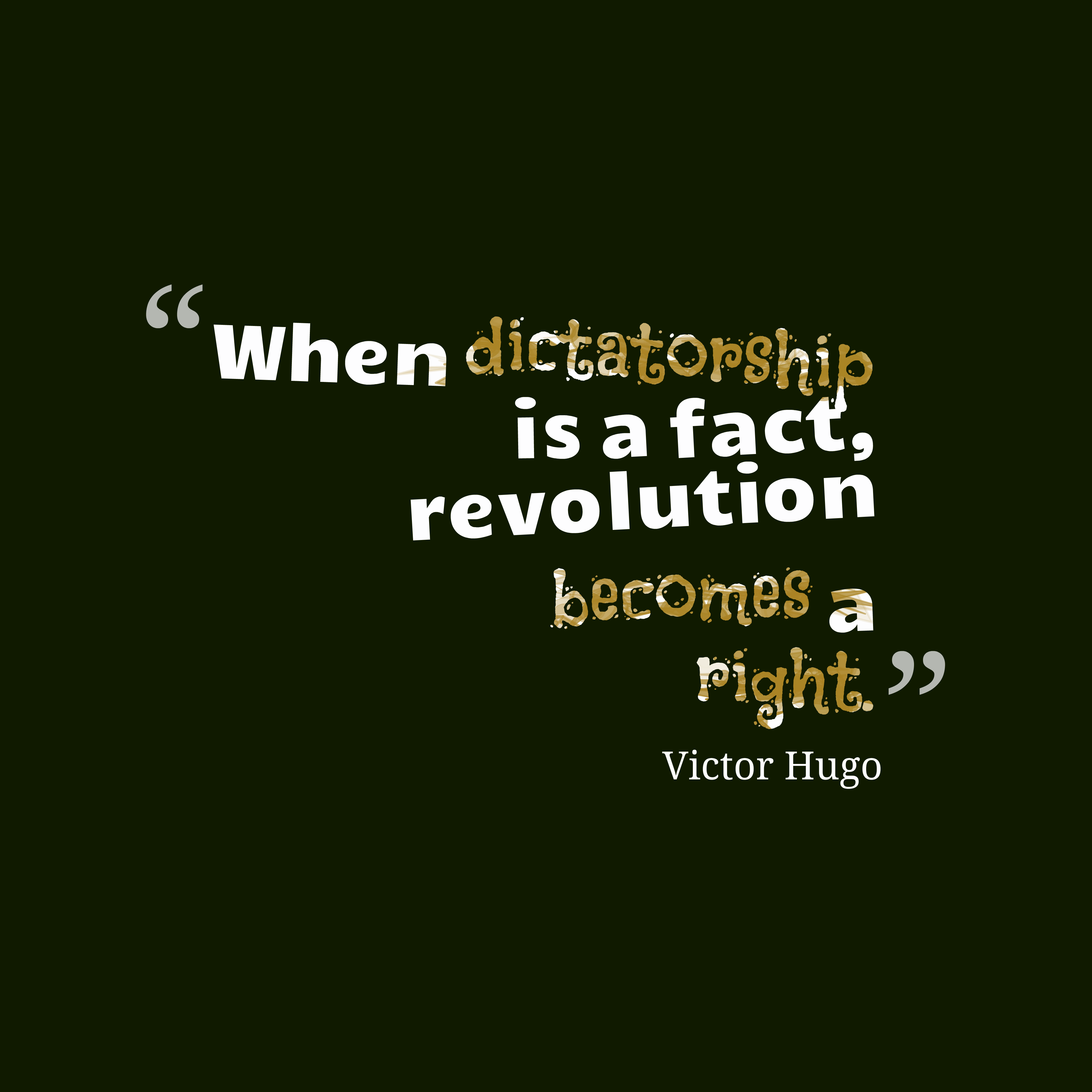 Picture » Victor Hugo Quote About Revolution