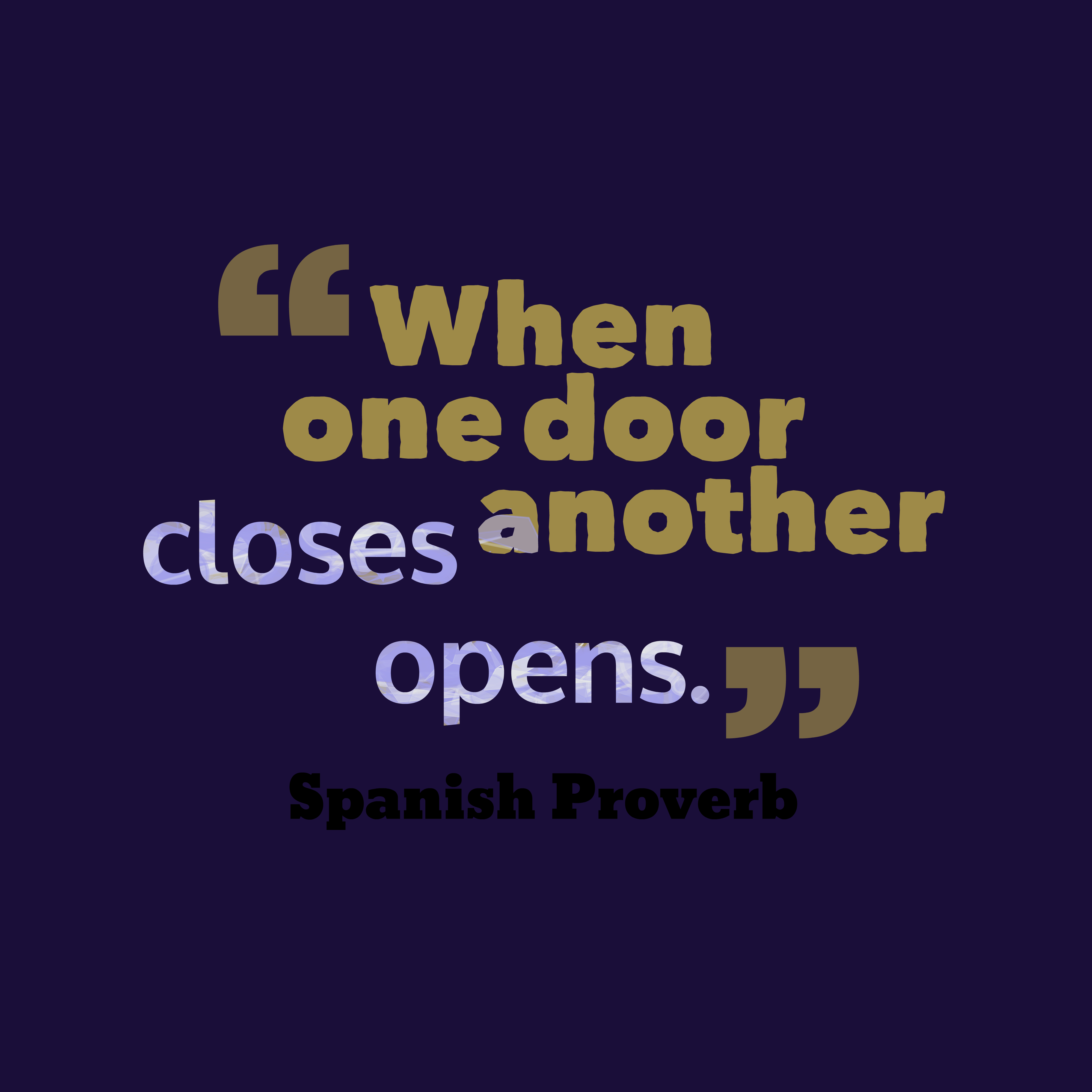 Spanish Proverb About Change