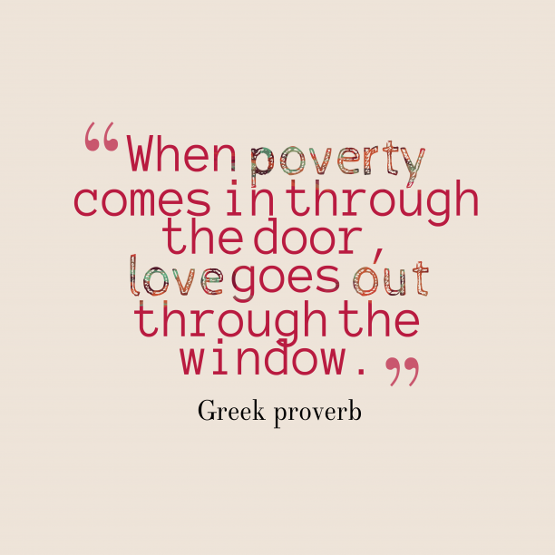 Greek wisdom about financial.