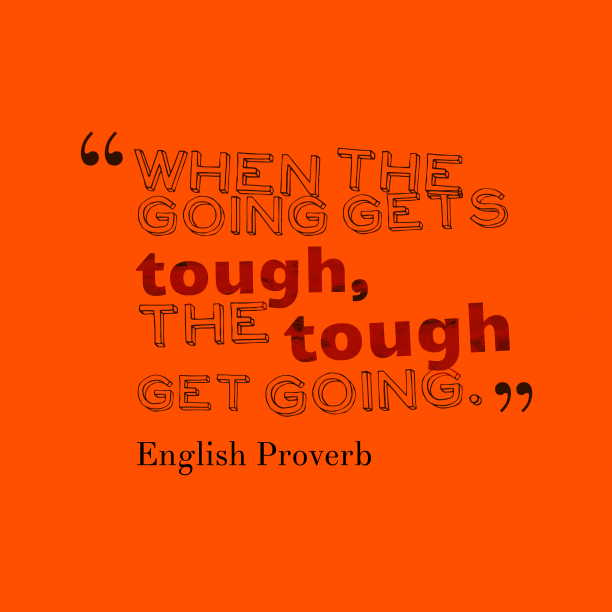 English proverb about strong.