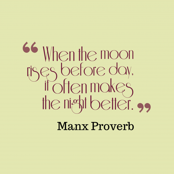 Manx proverb about preparation.