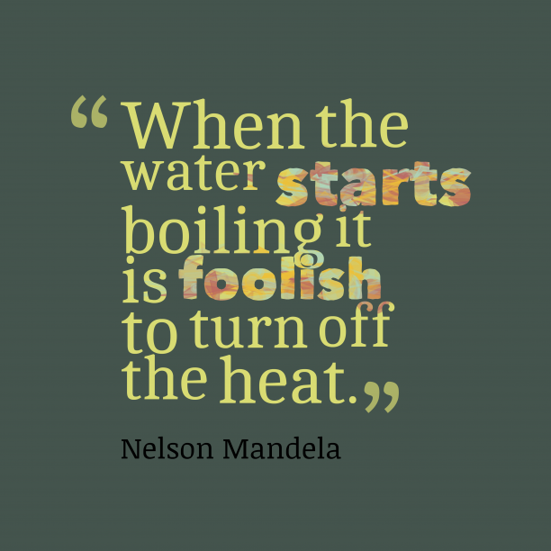 Nelson Mandela quote about water.