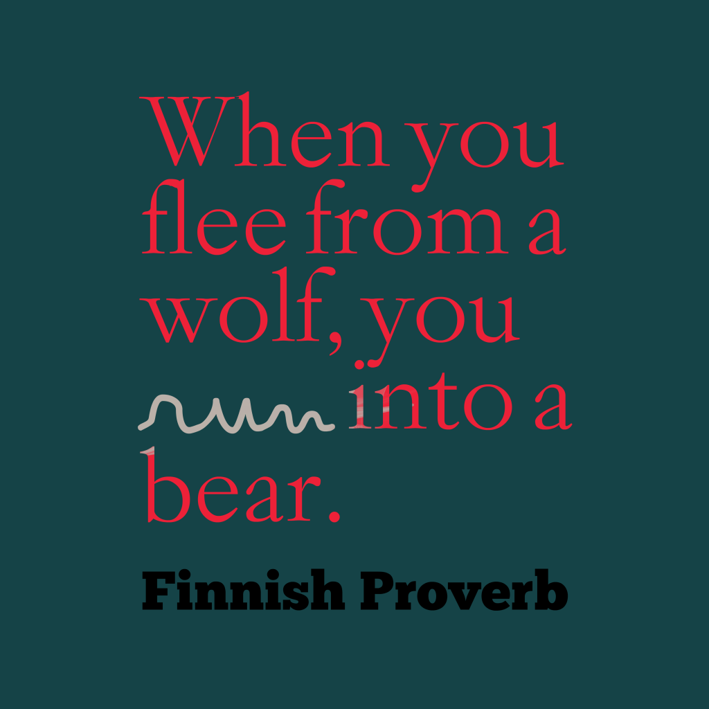 Finnish proverb abaout fight.