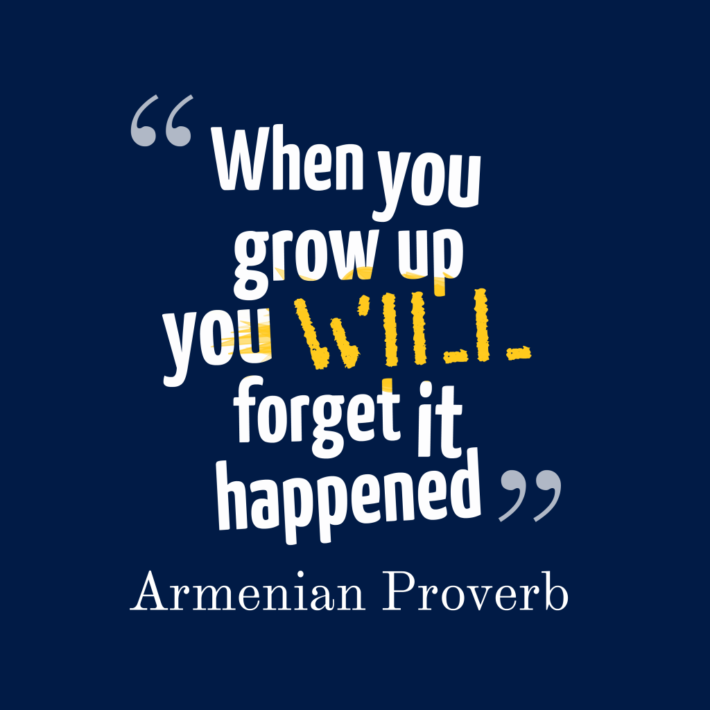 Armenian proverb about experience.