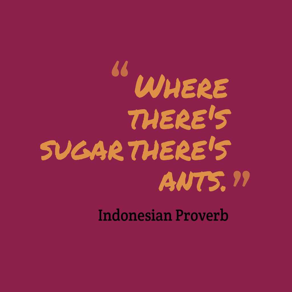 Indonesian proverb about interesting.