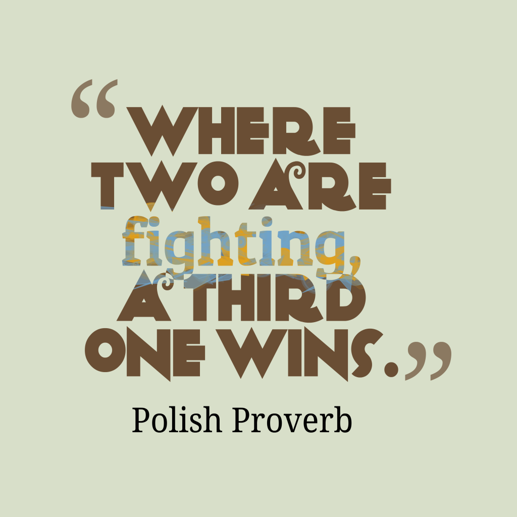 Polish proverb about competition.