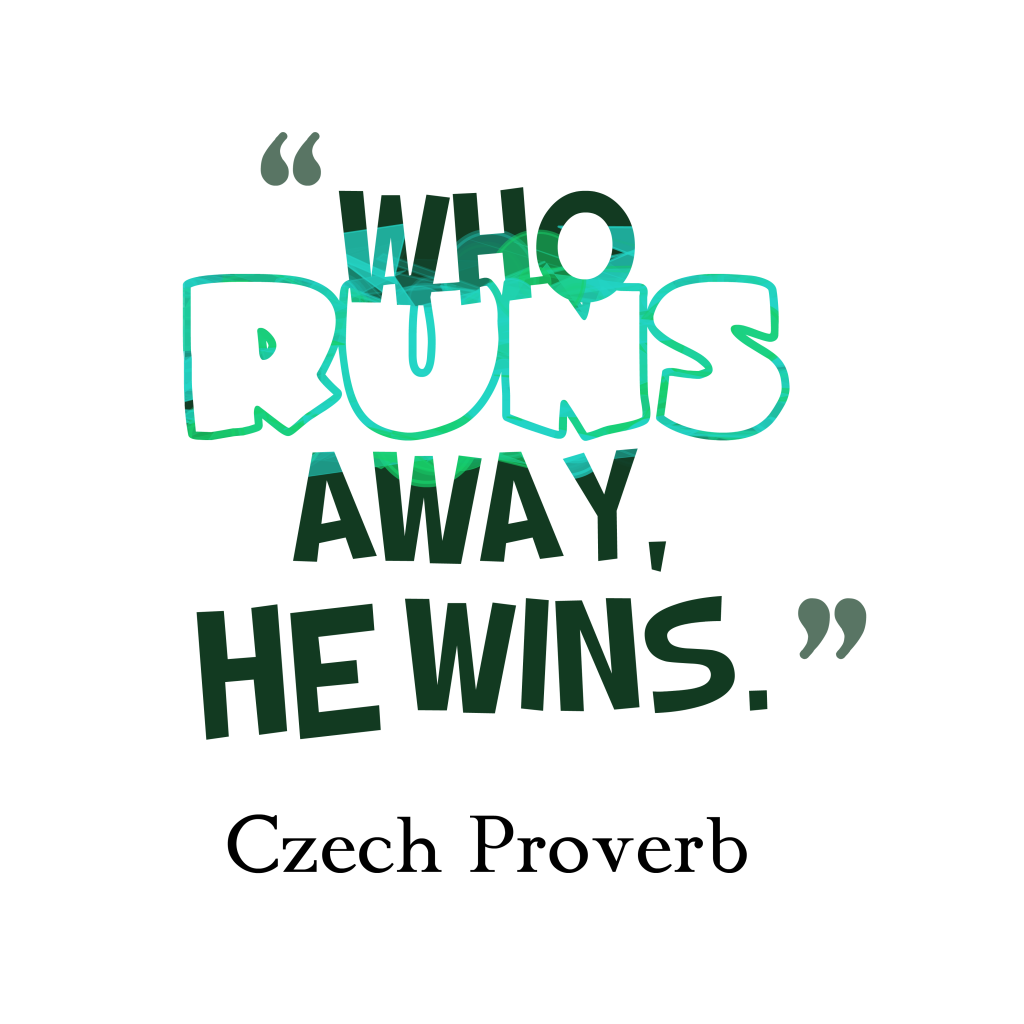Czech proverb about battle.