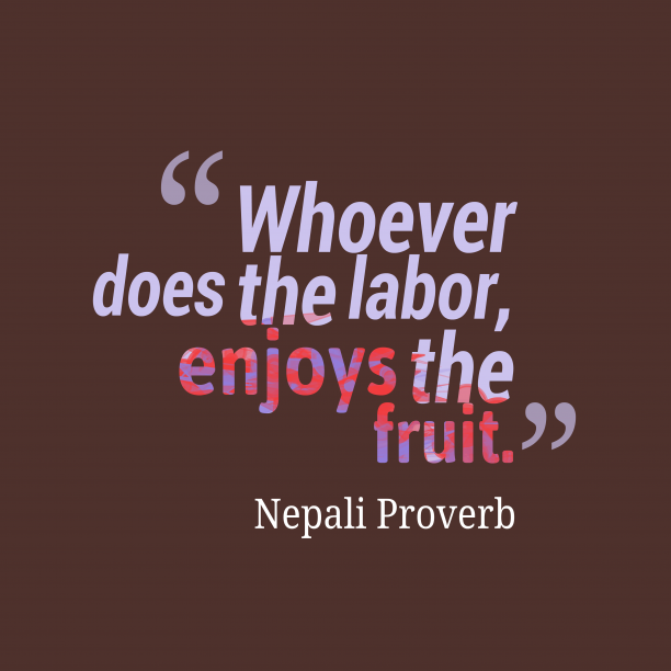 Nepali proverb about job.