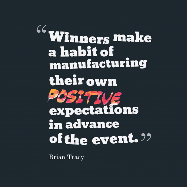 Brian Tracy quote about winners.