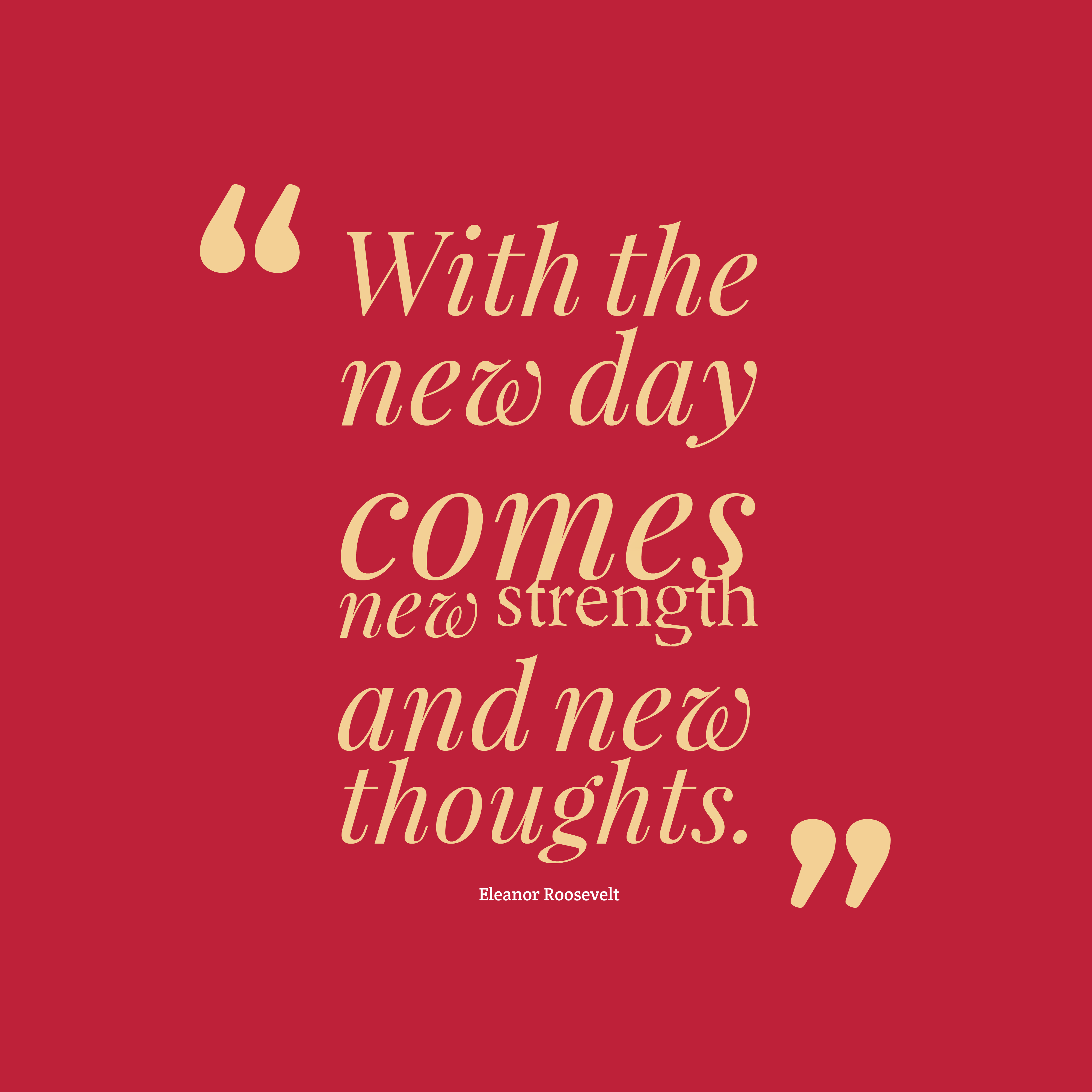 Inspirational Day Quotes: Picture » Eleanor Roosevelt Quote About Strenght