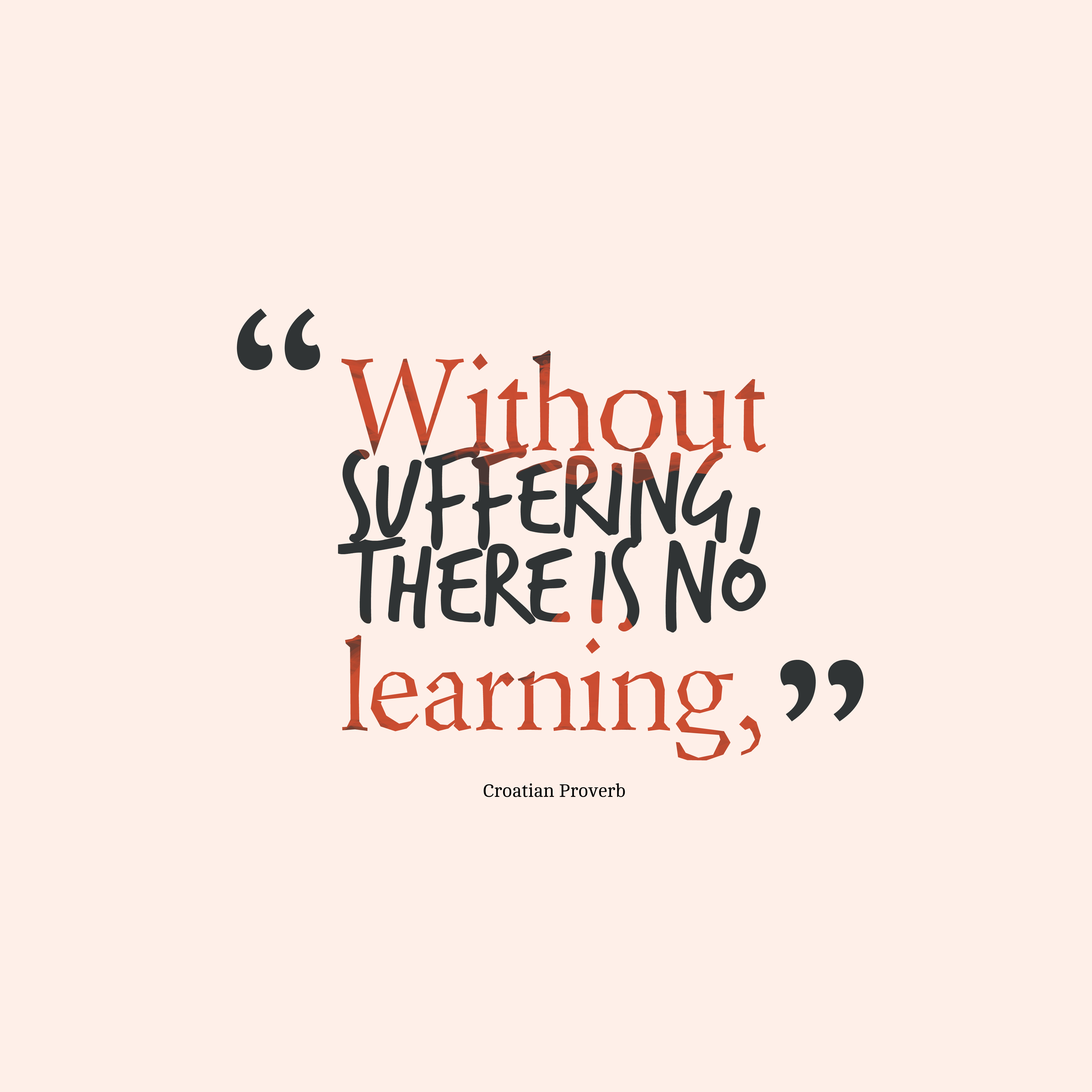 Quotes image of Without suffering, there is no learning,