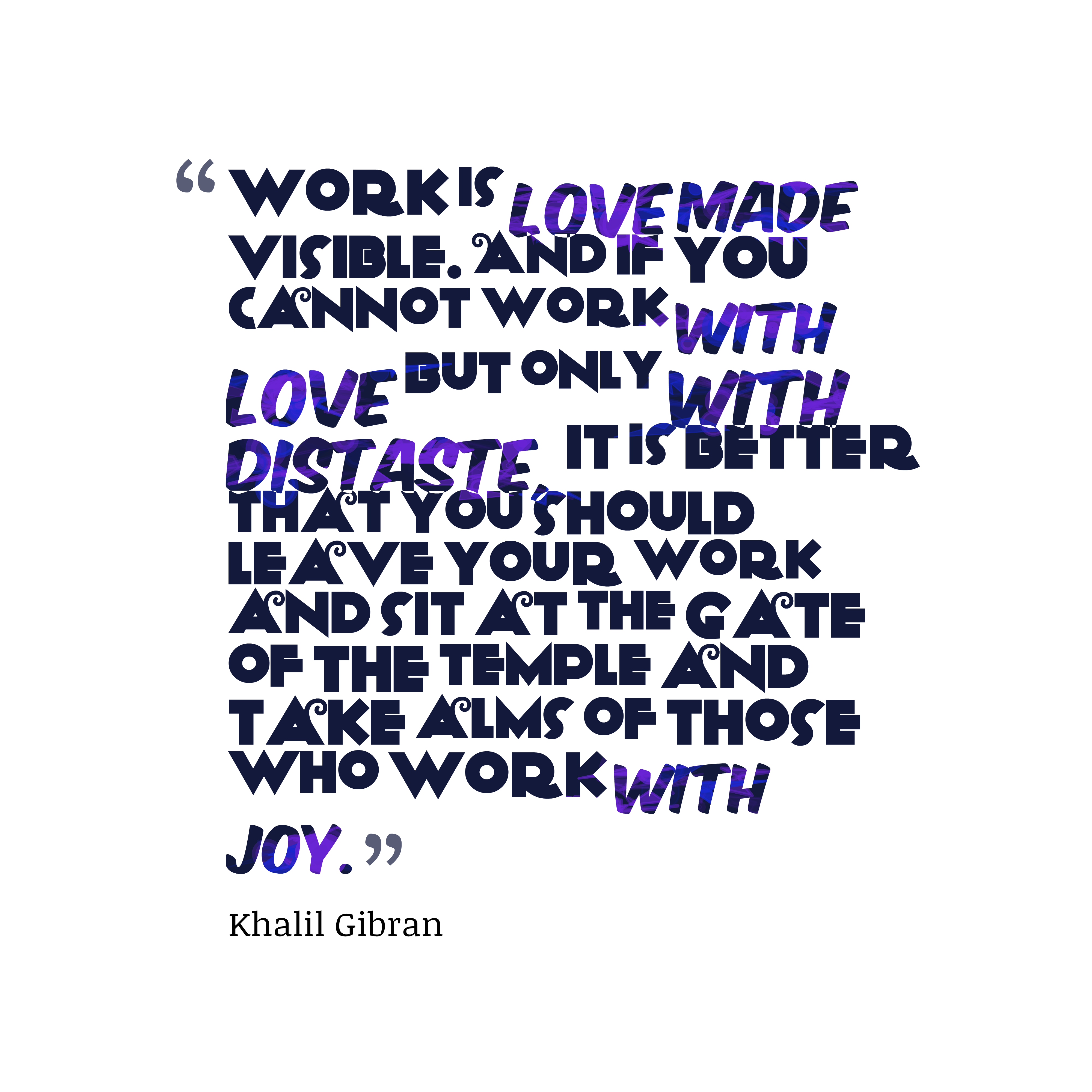 Quotes About Love: Picture » Khalil Gibran Quotes About Joy