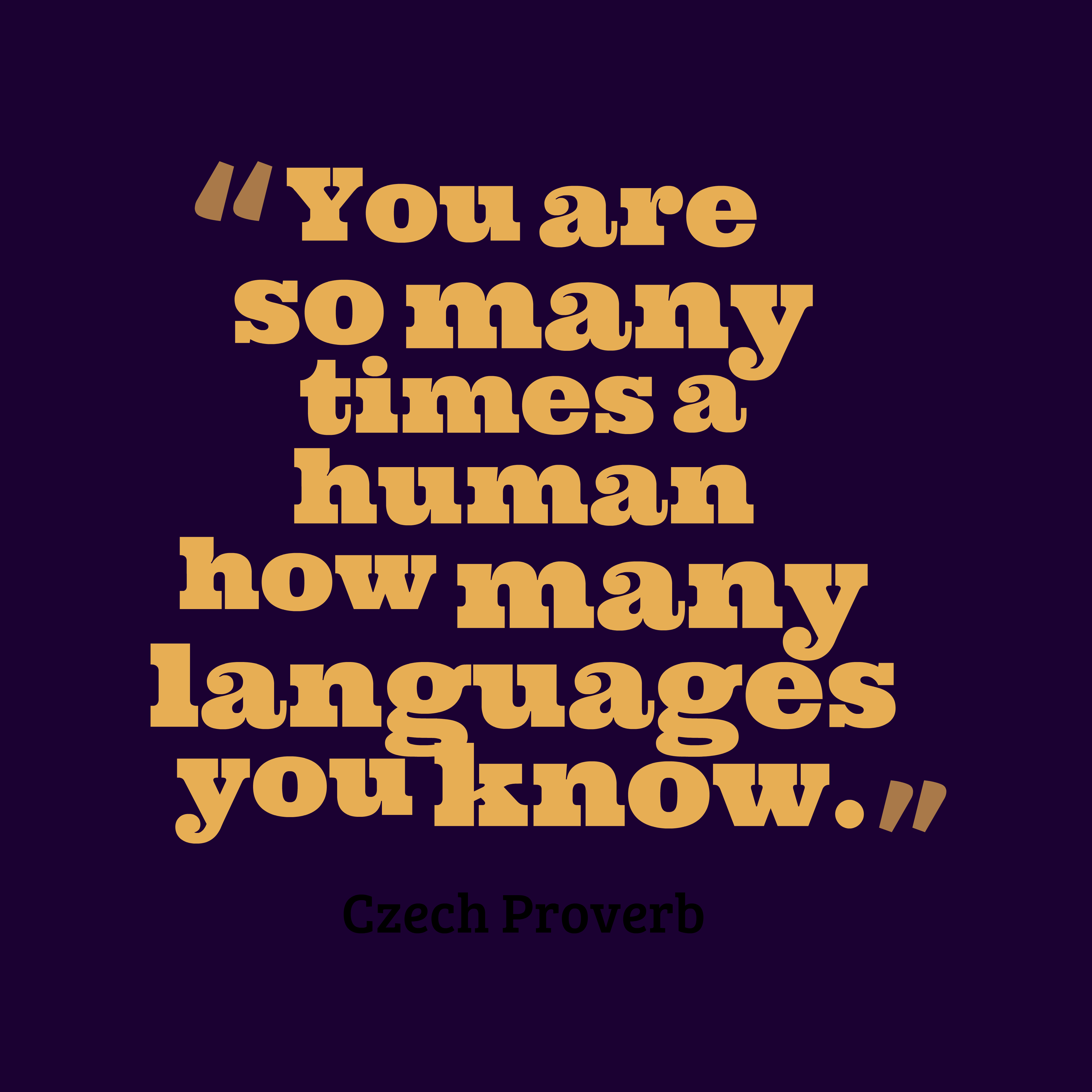 Quotes image of You are so many times a human how many languages you know.