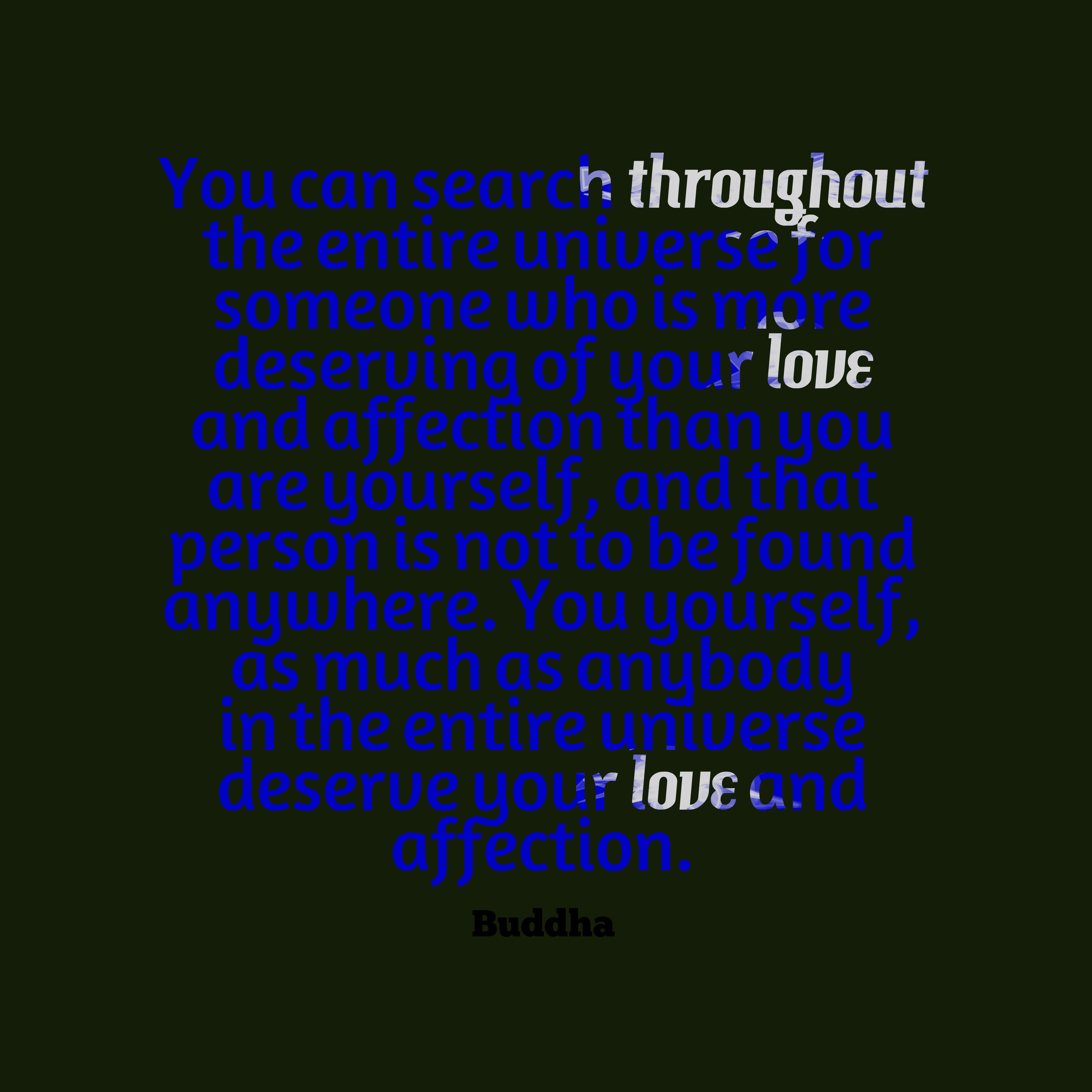 Buddha Quote About Love.