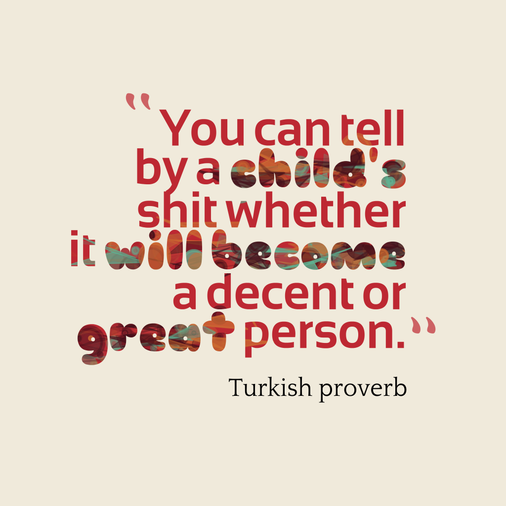 Turkish proverb about attitude.