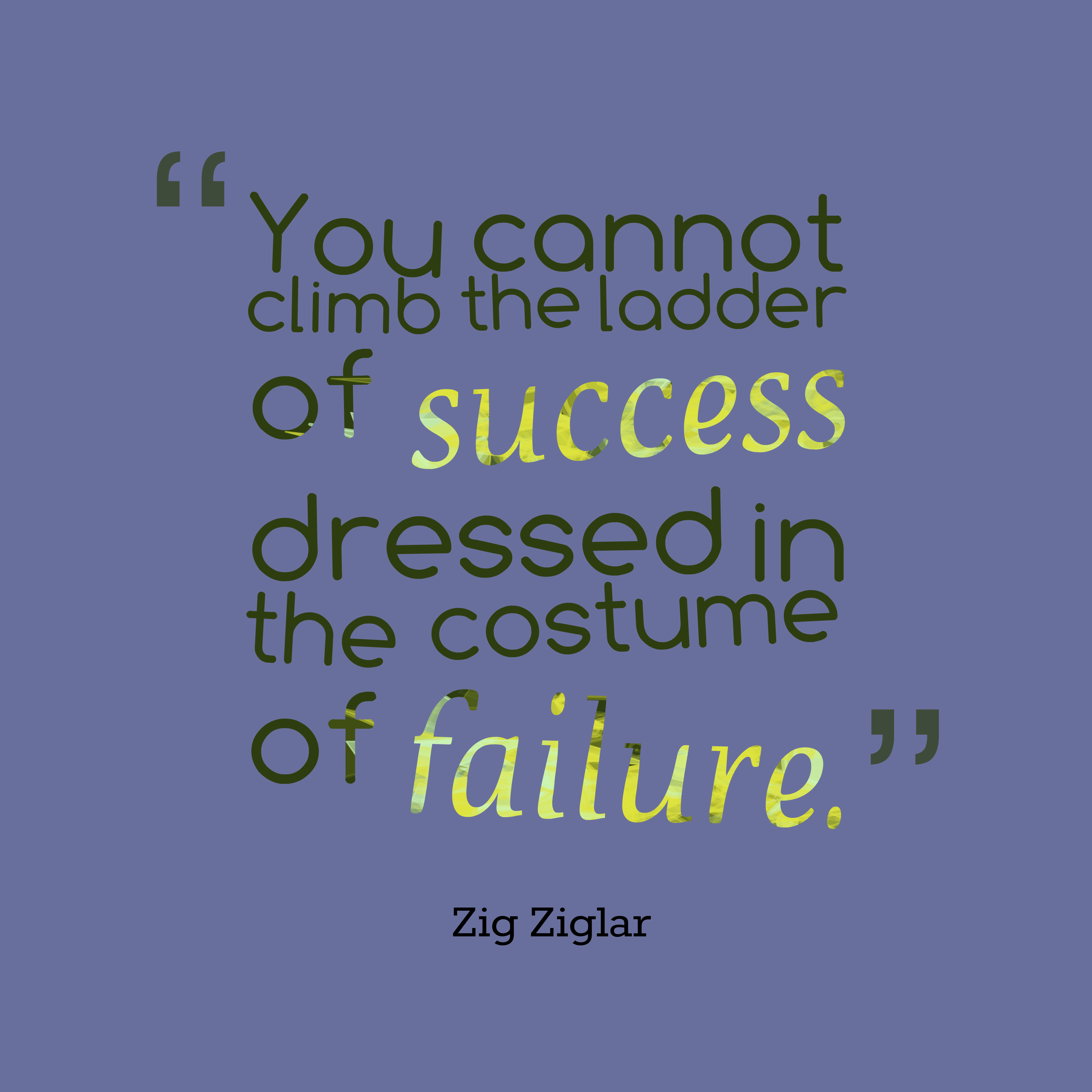 Quotes image of You cannot climb the ladder of success dressed in the costume of failure.