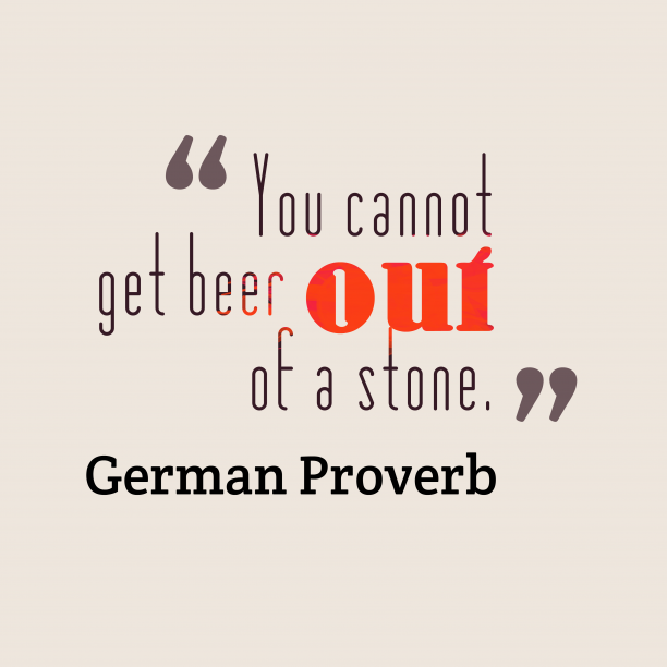 German proverb about mind.