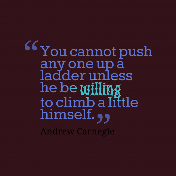 Andrew Carnegie quote about himself.