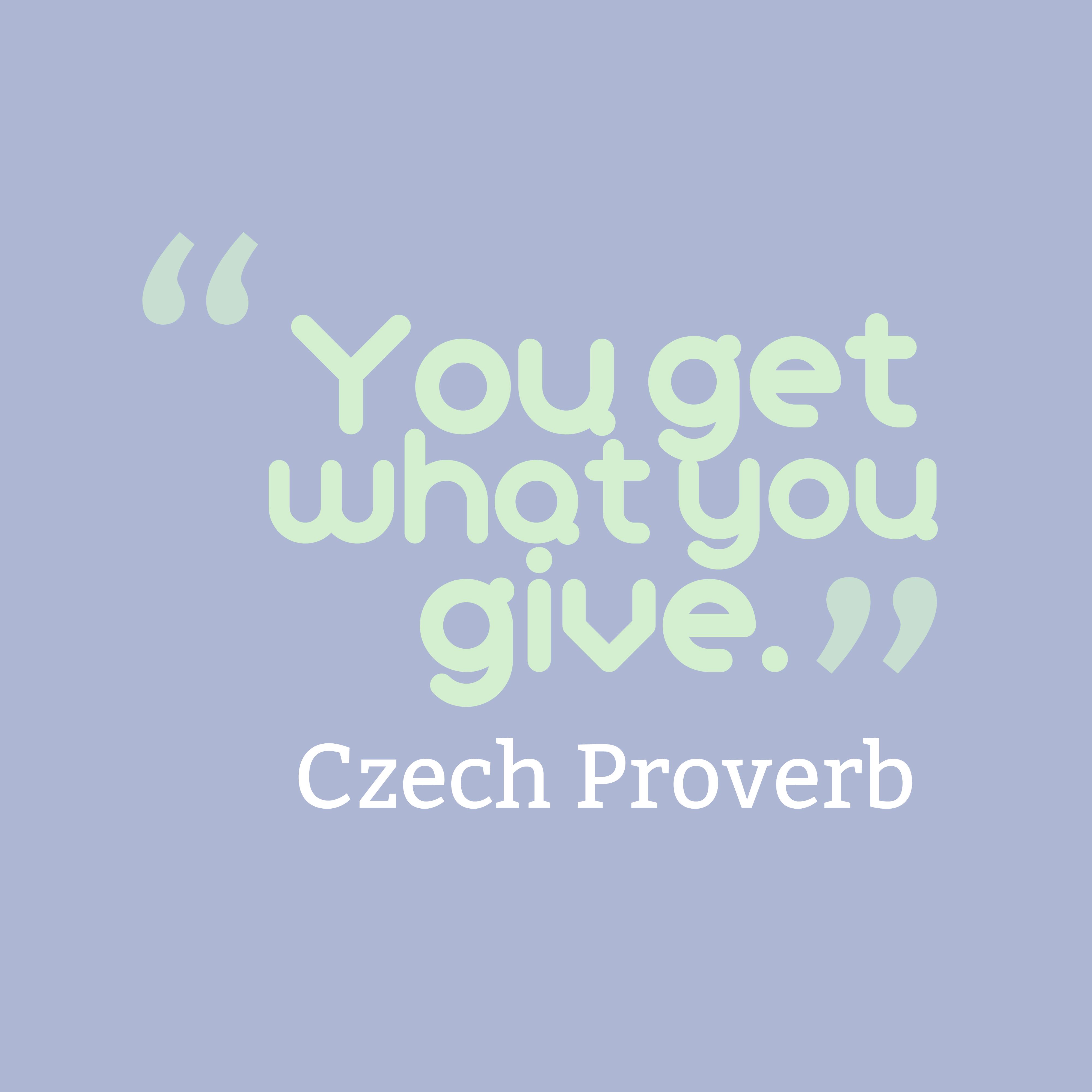 Czech Wisdom About Equally