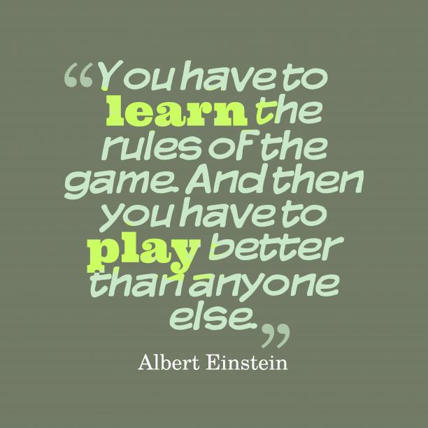 Albert Einstein quote about game.