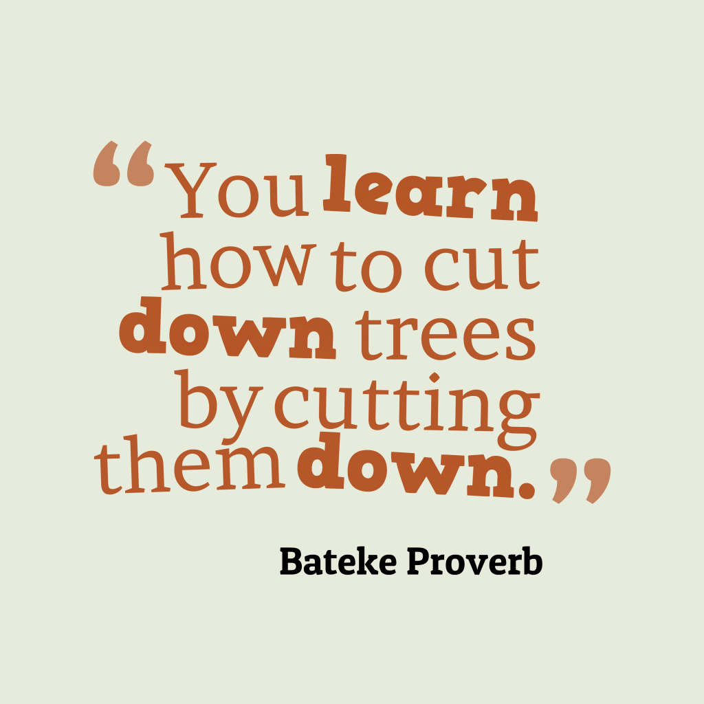 Bateke proverb about learn.