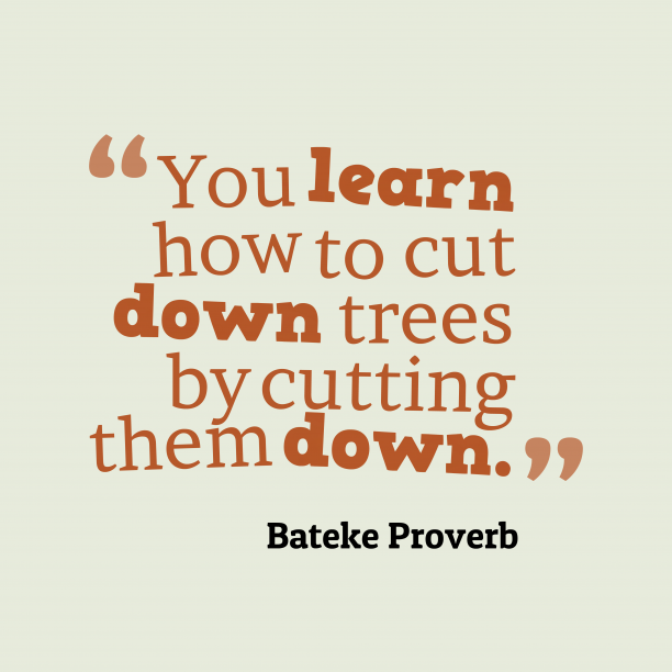 Bateke wisdom about learn.