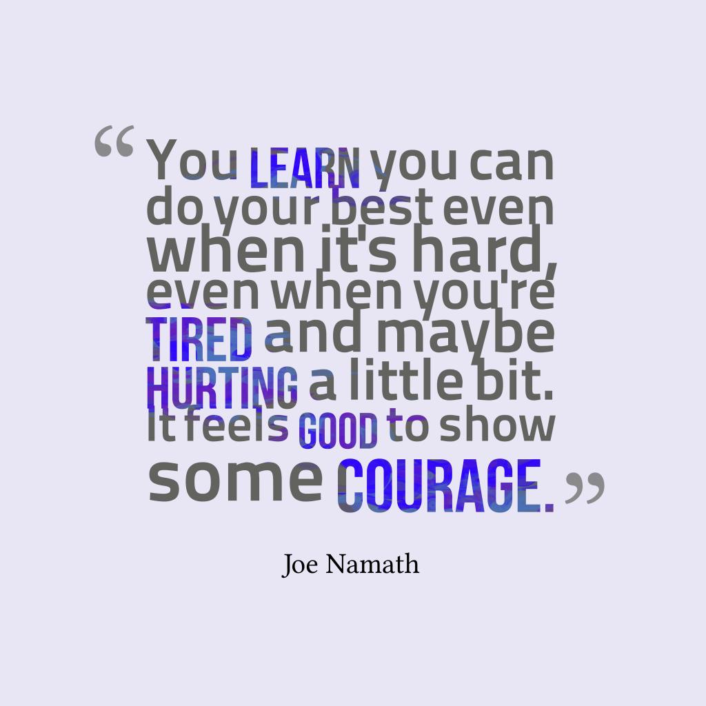 Joe Namath quote about learn.