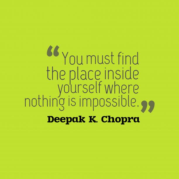 Deepak K. Chopra quote about soul.