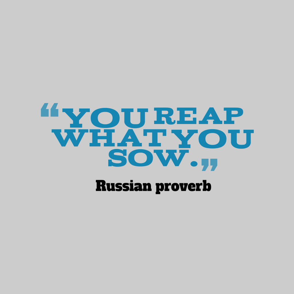 Russian proverb about action