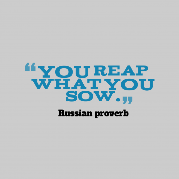 Russian wisdom about action