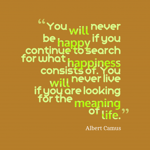 Albert Camus quote about life.