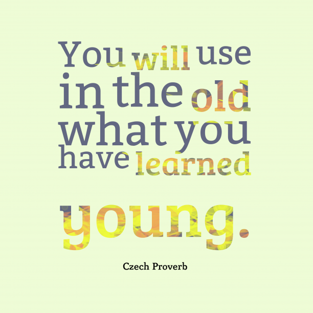 Czech proverb about learn.