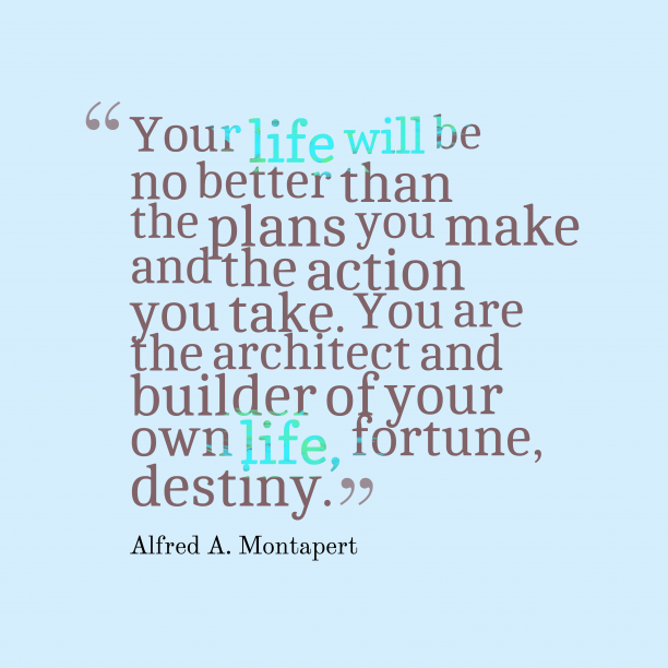 Alfred A. Montapert quote about destiny.