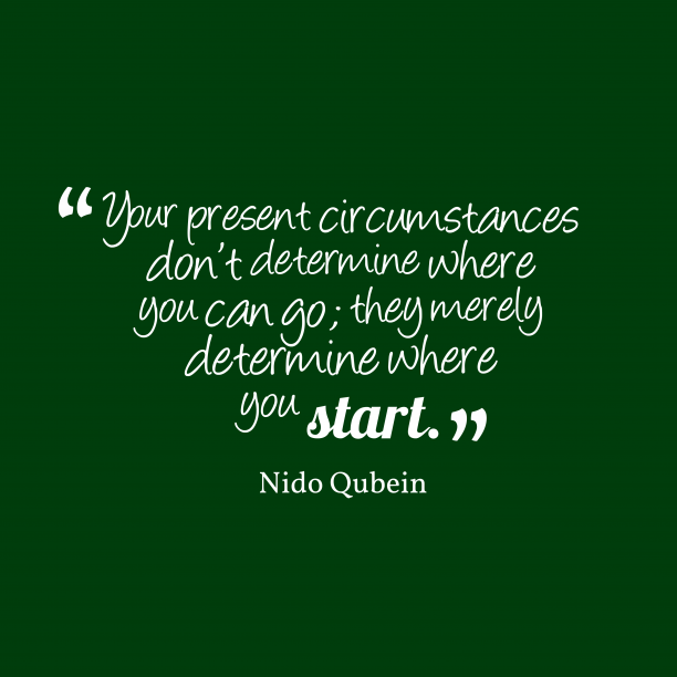 Nido Qubein quote about start.