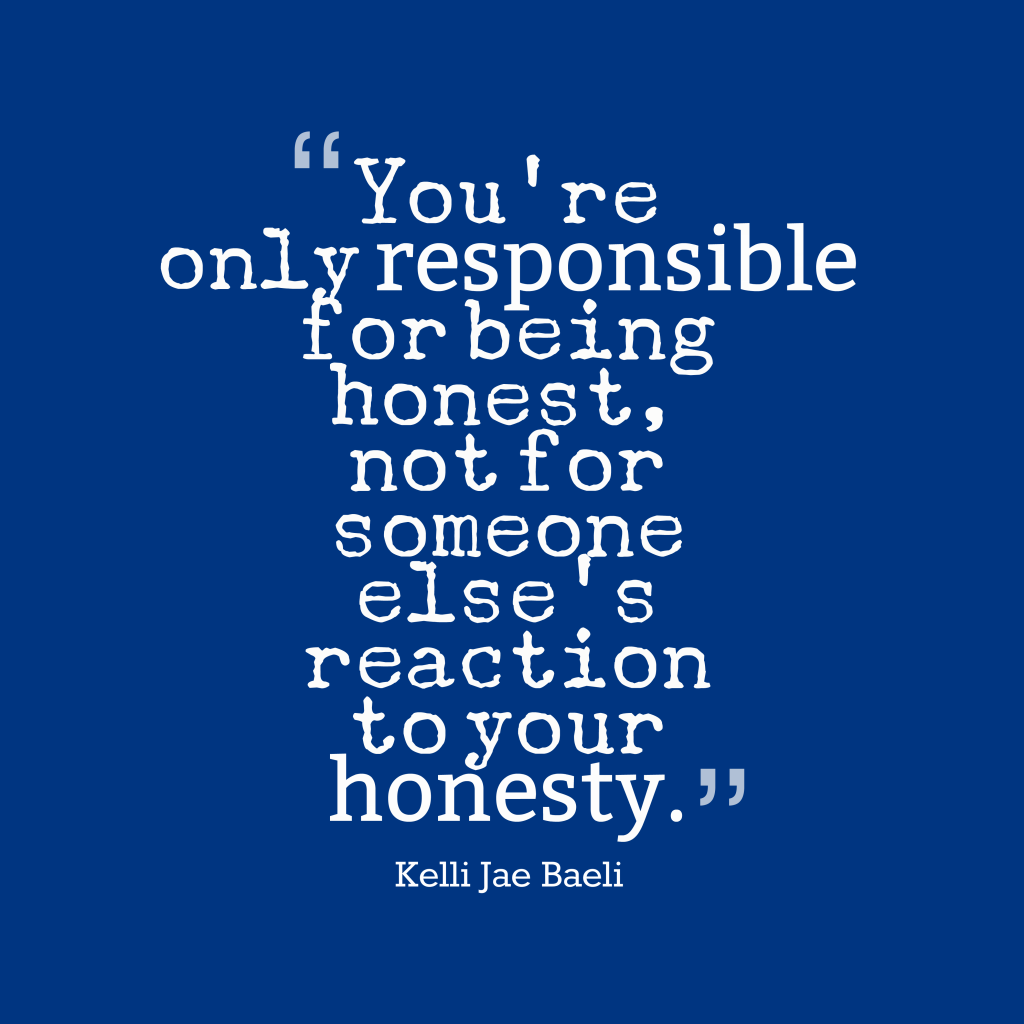 Picture » Kelli Jae Baeli quote about honesty.