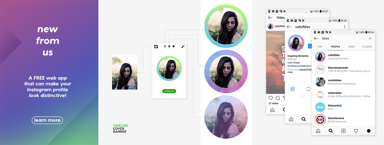 create instagram profile picture